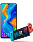 Huawei P30 Lite New Edition Blue and Nintendo Switch
