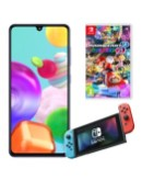 Samsung Galaxy A41 with Nintendo Switch & Mario Kart