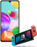 Samsung Galaxy A41 with Nintendo Switch